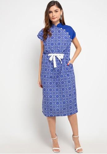 Ans.Ein blue Peranakan Blu Kimono Cheongsam Dress - S 30CD1AA79F4322GS_1