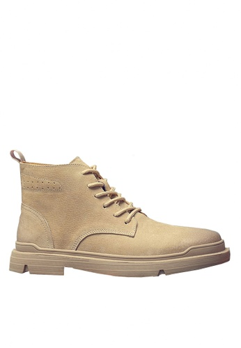 Twenty Eight Shoes beige Stylish Pig Suede Mid Boots VMB8881 9748FSH6165509GS_1
