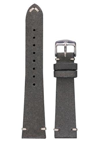 Undone grey Undone Grey Calf Leather Strap 20mm (Silver Buckle) UN712AC2VEJQHK_1