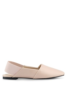 Something Borrowed beige Slip On Flats With Thick Band 37964SHE97DB63GS_1