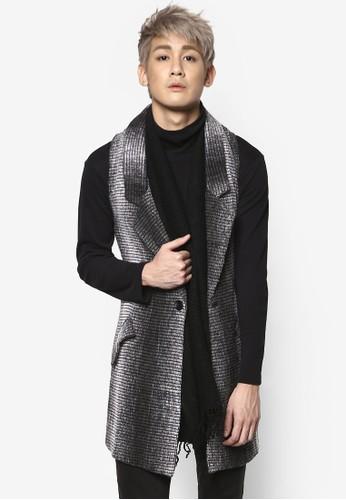 Ombre 毛氈馬甲式大衣, 服飾zalora 包包 ptt, 外套
