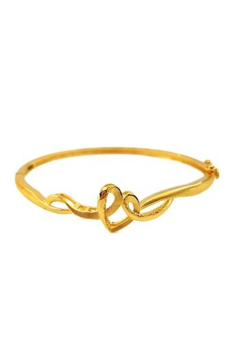 LITZ gold LITZ JINXI 999 (24K) Gold Heart series Bangle 622F7AC8A17B1DGS_1