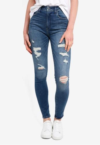 Abercrombie & Fitch blue Medium Destroy Simone Jeans E2926AA1624497GS_1