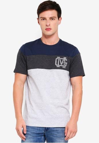 MANGO Man 灰色 壓紋刺繡T恤 1820EAA7EA8605GS_1