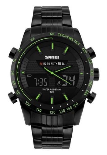 Digitec black and green Skmei - Jam Tangan Pria - Black Stainless Steel - 1131BGN DI108AC14AURID_1