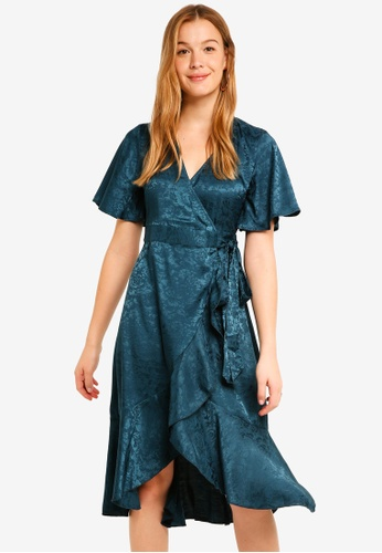 Y.A.S green Sarafina Short Sleeve Dress 5EAF9AA23FF6BCGS_1