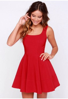 Daylight Coral Red Dress