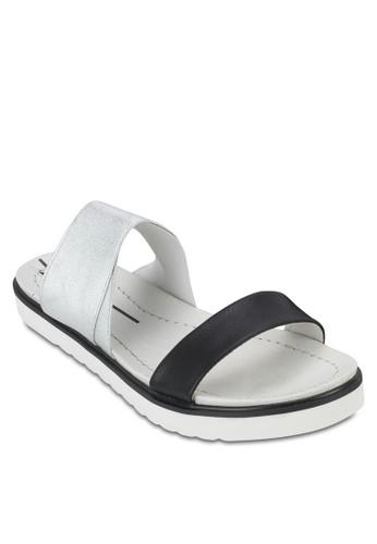雙色厚底涼鞋, 女esprit 請人鞋, 懶人鞋