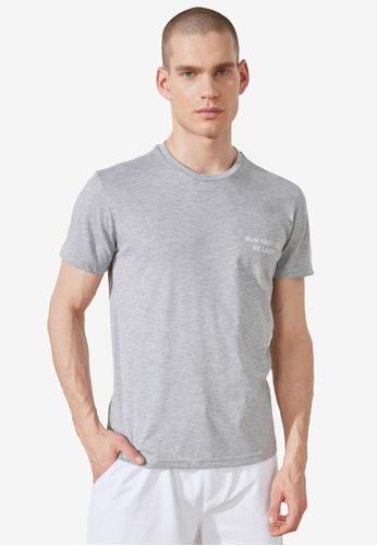 Trendyol grey Regular Fit Cotton Tee 830A3AAAF19B84GS_1
