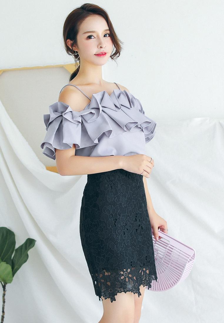 Lace Skirt in Black Mini Black Shopsfashion q07axO