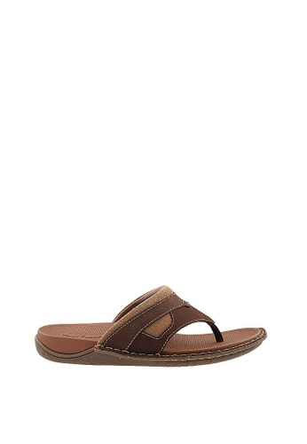 Hush Puppies brown Hush Puppies Addison-Toepost In Brown 54C65SH7F7A015GS_1