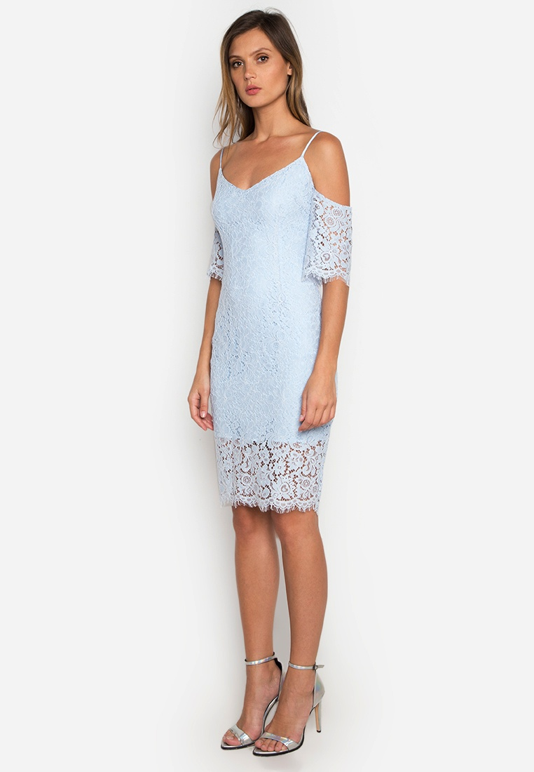 Off Dress Blue NOBASIC Lace Shoulder wq6frXq