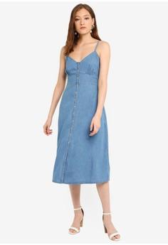 9d38cfd9 Forever New Gia Denim Midi Dress Rp 979.000. Ukuran 6 8 10 12 16