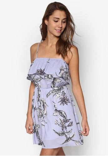 Cheryl 花卉層次細肩帶洋裝, 服飾, 洋esprit香港分店裝