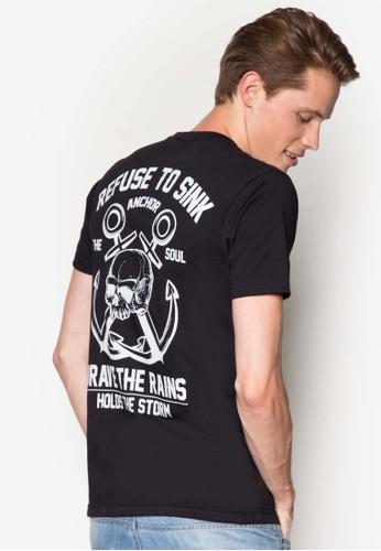 船錨圖文設計T 恤, 服esprit 手錶飾, 印圖T恤