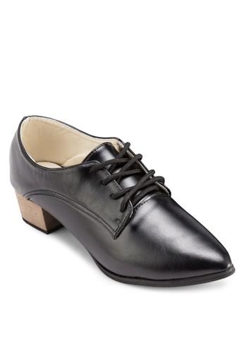 PLAY! Jeslesprit mongkokyn 鞋帶尖頭粗跟鞋, 女鞋, 鞋