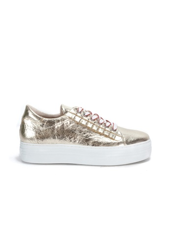 Shu Talk gold Stylish Leather Sneakers 3FEACSH67E88DEGS_1