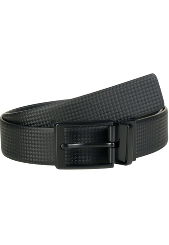 LAMBORGHINI black Automobili Lamborghini® Unisex Black Calf Leather Belt F52F7AC0424337GS_1