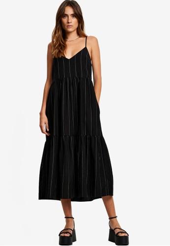 St MRLO black Phi Phi Midi Dress A0C3AAABF517D6GS_1