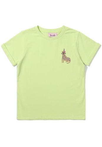 b+ab green Cheetah sequin embellished tee 65EC4AABA1B622GS_1