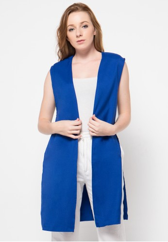 Raspberry blue Lydia Sleeveless Cardigan RA572AA78OURID_1