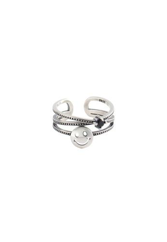 A-Excellence silver Premium S925 Sliver Geometric Ring 139C2ACB6F8E3FGS_1