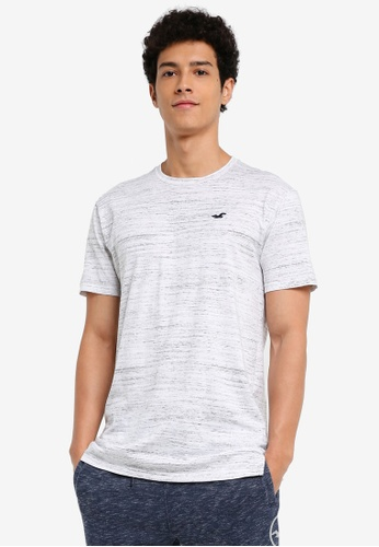 Hollister white Core Icon Long Line T-Shirt C5610AA54E8430GS_1