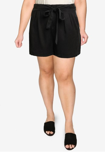 Vero Moda black Plus Size Mia Hr Loose Summer Shorts 1A78EAA715A8C6GS_1