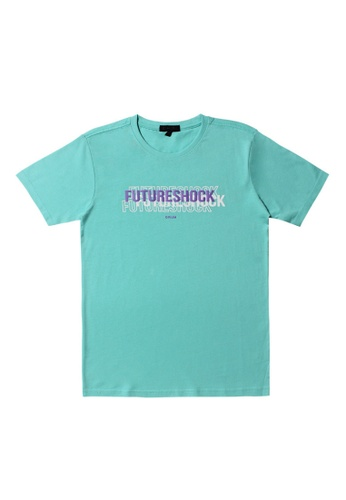 DRUM blue and purple DRUM Future shock tee - Blue 51236AA427CFA5GS_1