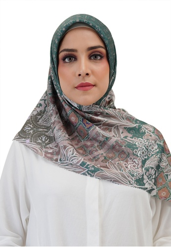 Buttonscarves green Buttonscarves Maharani Voile Square Green 0F804AABD3DC1CGS_1