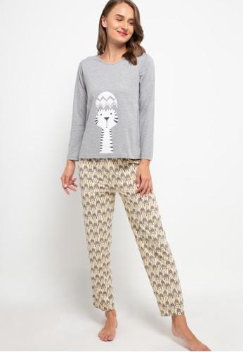 Puppy multi Pyjama Pijama Long Sleeve Long Pants Sleepwear 4EE42AAB9FAB1FGS_1