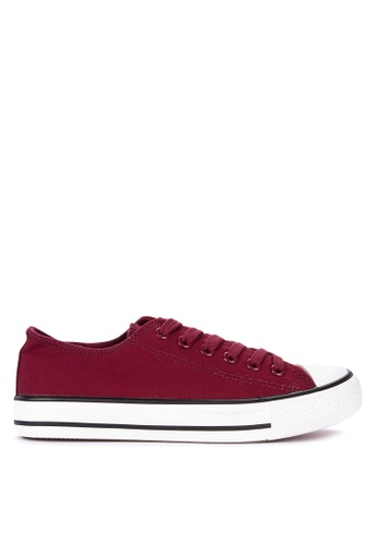 BENCH red Classic Lace Up Sneakers AC7A4SHD350930GS_1
