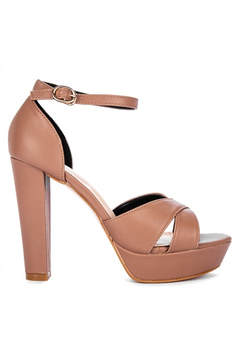 ABOUT A GIRL brown Heeled Sandals 8750ASHFE6C8D0GS_1