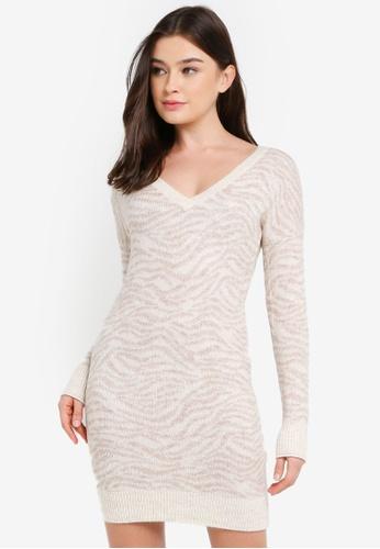 Abercrombie & Fitch multi V-Back Heavenly Sweater Dress 4E32DAA77206E7GS_1