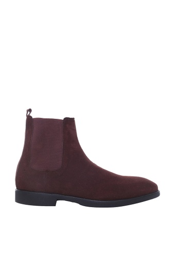 Zeve Shoes brown Zeve Shoes Chelsea Boots - Dark Brown Suede Leather 05FDCSHF616637GS_1
