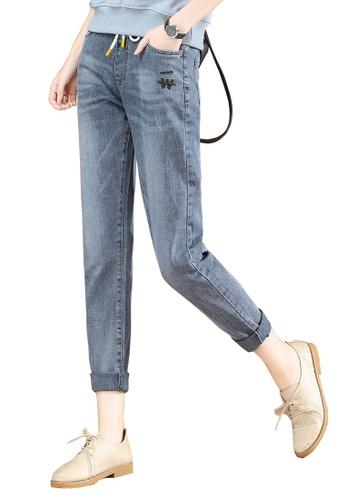 A-IN GIRLS blue Denim Jeans With Elastic Waist E0DC0AA58C5B0EGS_1