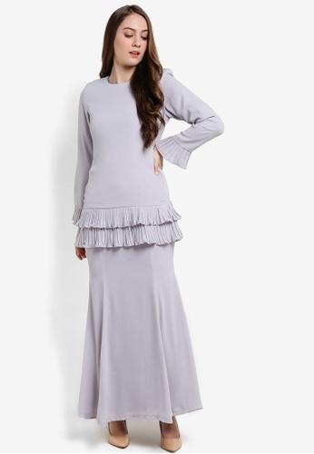 Butik Sireh Pinang grey Karina Baju Kurung Modern BU003AA88SETMY_1
