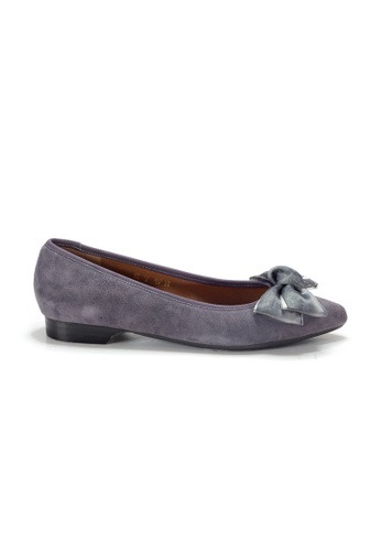 Shu Talk purple LeccaLecca Suede Leather BOW Point-toe Flats AE9D2SHC74EE74GS_1