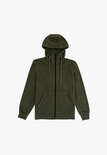 FOREST green Forest Cotton Terry Jacket Men Jacket - Jaket Lelaki - 30397 - 45DkOlive F8B45AA1CB538AGS_1