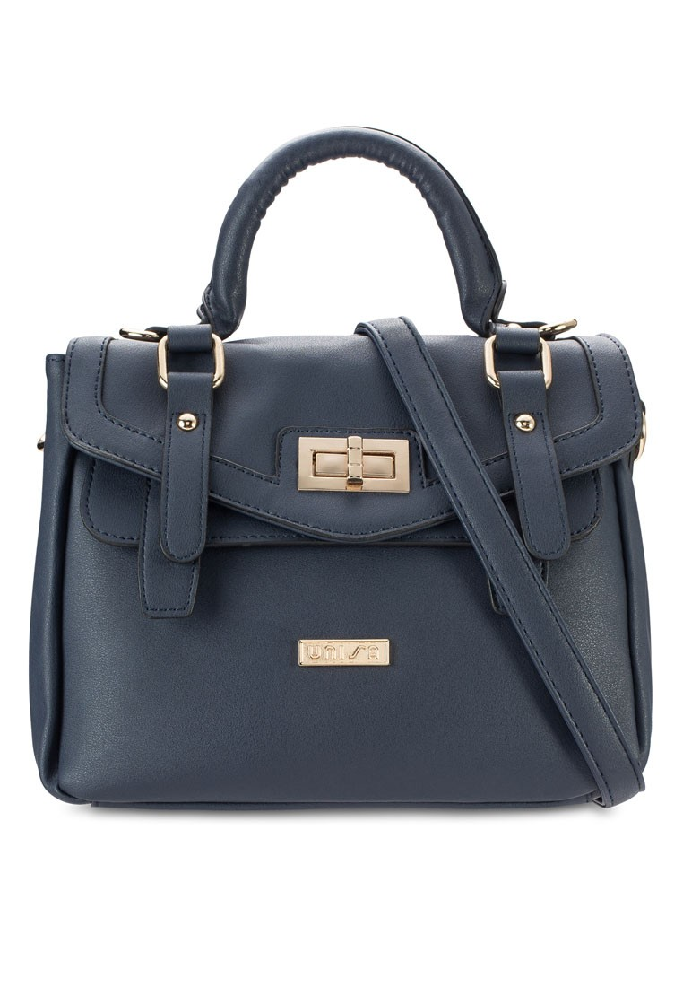 Convertible Satchel with Turn Lock
