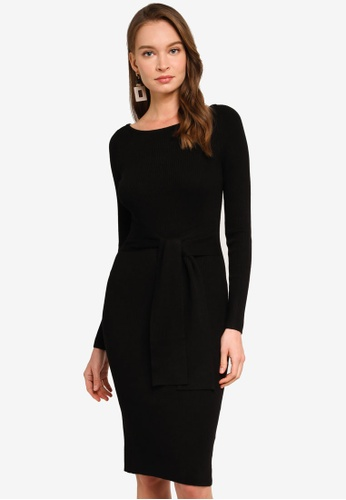 REUX black Lena Knit Dress FC21FAABE69109GS_1
