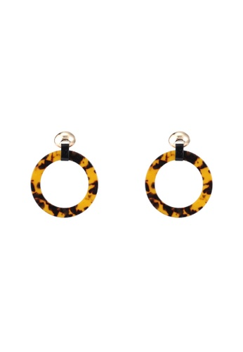 Red's Revenge brown Tort O-ring Statement Earrings 8E5E3AC8945A2AGS_1