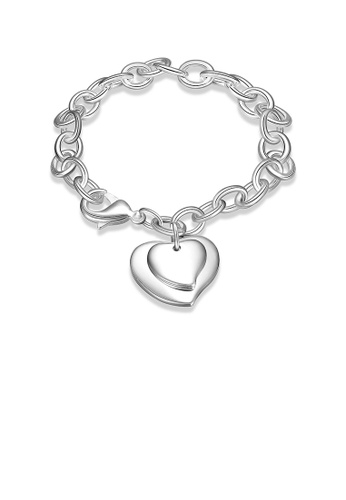 Glamorousky silver Romantic Heart Bracelet 73D8EACD015B3BGS_1