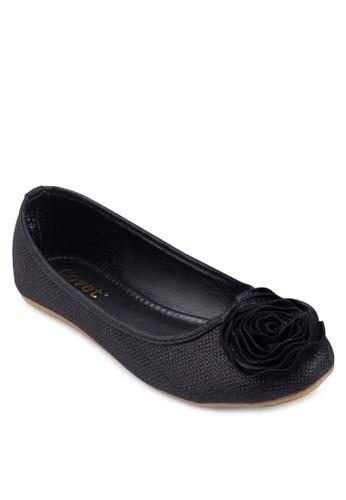 立體花飾圓頭平底鞋, 女鞋, esprit 鞋鞋