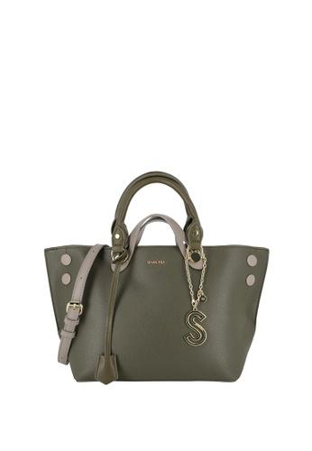 SEMBONIA green Short Handle Tote Bag 9C65EAC7F36A1CGS_1
