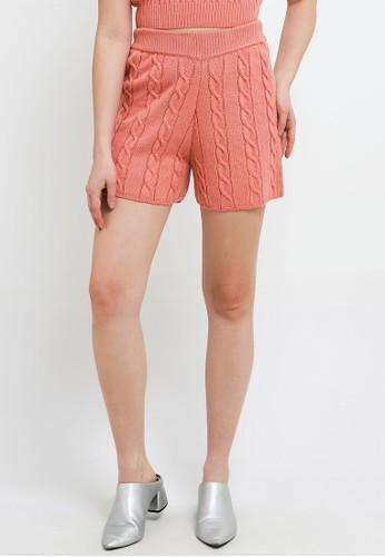 Noir Sur Blanc orange Ladies Short Knit 40227AAD6D7FA8GS_1