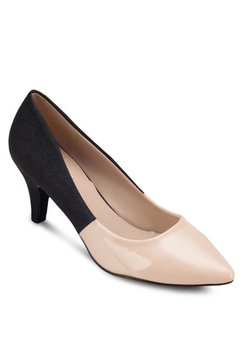 Pauline 拼接尖頭中跟鞋, 女zalora taiwan 時尚購物網鞋子鞋, 厚底高跟鞋