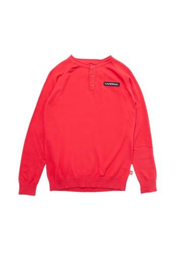 Cardinal Kids red Knitted Sweater C8111KAD702354GS_1