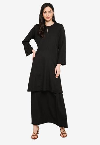 Butik Sireh Pinang black Baju Kurung Pahang Salimah C6455AA7034793GS_1