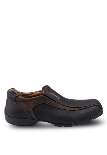 Louis Cuppers 褐色 Faux Leather Slip Ons 6323BSH01C971FGS_1